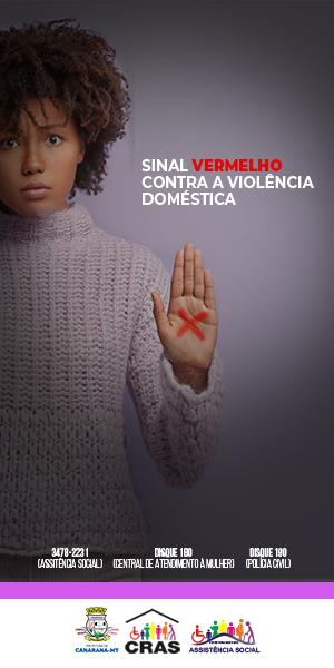 Campanha Sinal Vermelho contra a violência domestica